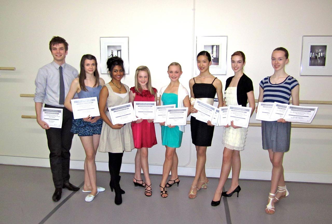 Provincial Dance Manitoba Scholarship Winners 2011