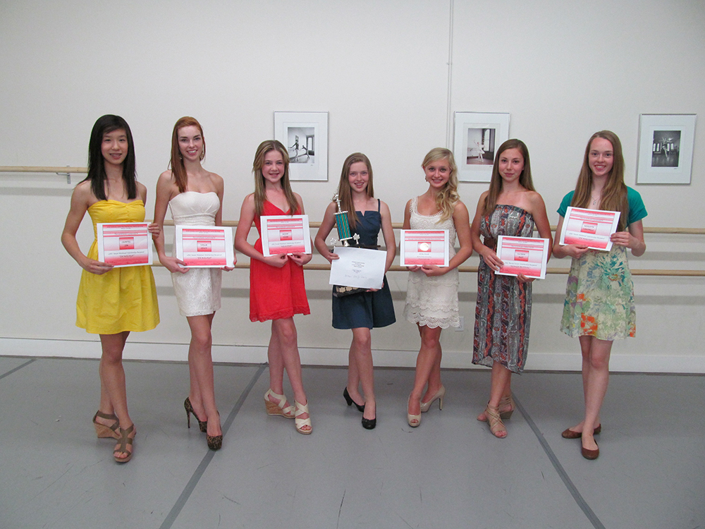 2012 Brandon Festival of the Arts & Provincial Dance Manitoba Scholarship and Trophy Winners