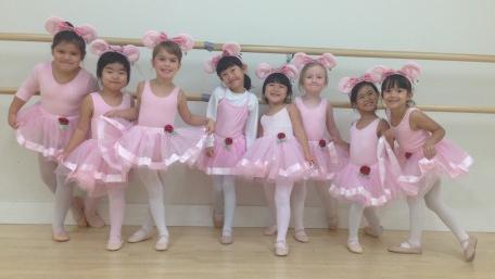 Brandon School of Dance ballet students in the Angelina Ballerina program